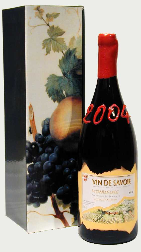 Eine Magnumflasche Wein aus den Savoyen