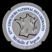 Medaille d'argent Cremant 2018