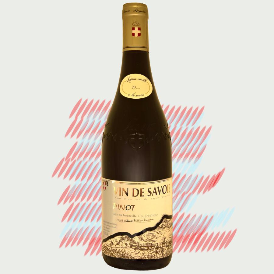 Bouteille de Pinot, vin de Savoie
