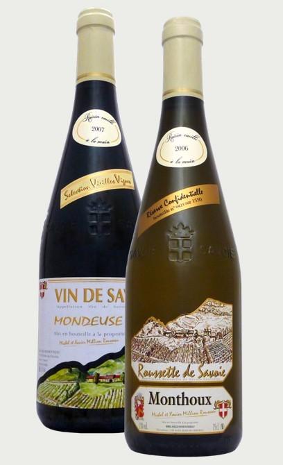 Vin de Savoie Roussette et Mondeuse