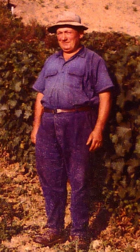 Marcel Million Rousseau en 1965, Vigneron à Monthoux