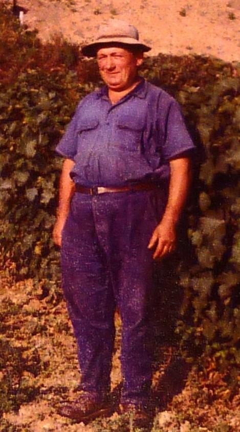 Marcel Million Rousseau en 1965, Winzer in den Alpendorf Monthoux
