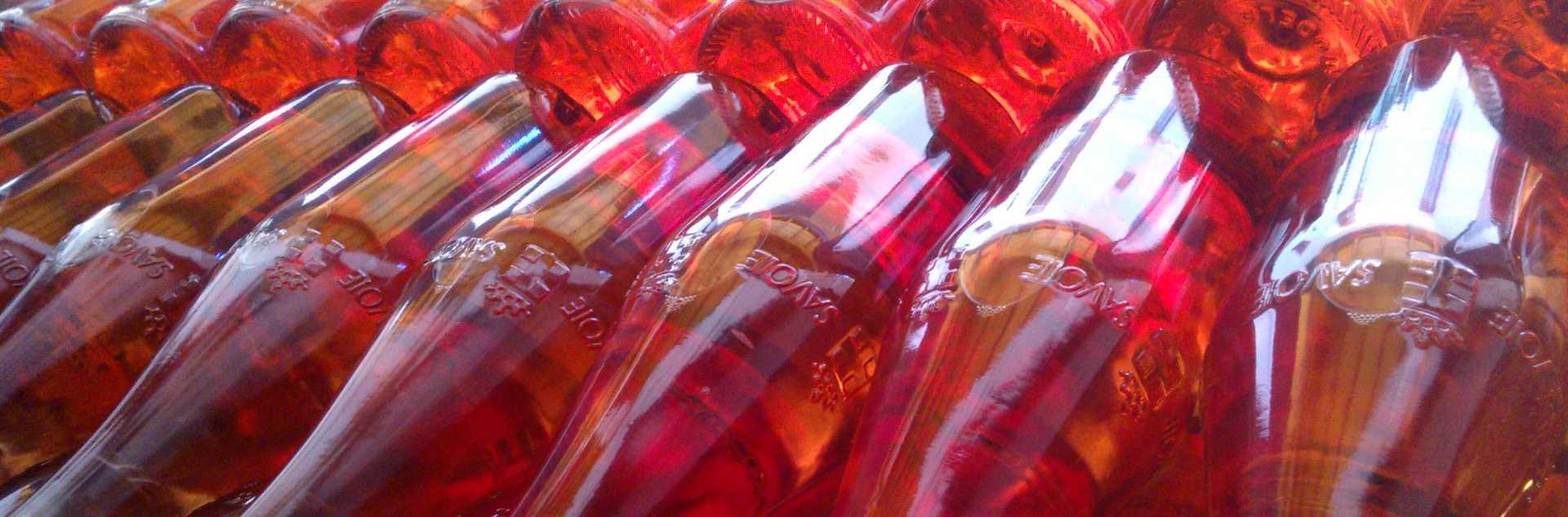 Bouteilles Vins de Savoie rosés